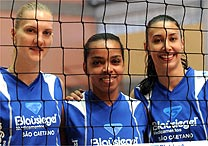 As jogadoras do São Caetano Mari, Fofão e Sheila